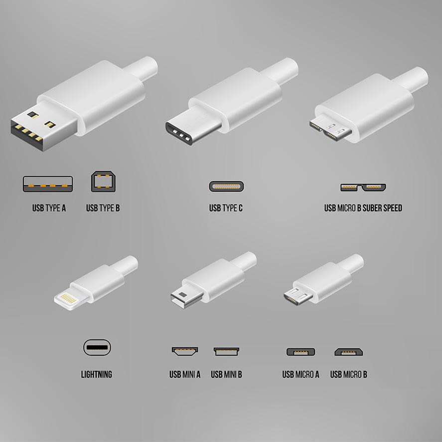 Todos los distintos tipos de conectores USB